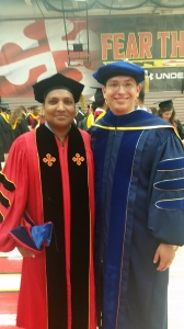 Our new Dr. Singh with his adviser, Dr. Gollner.