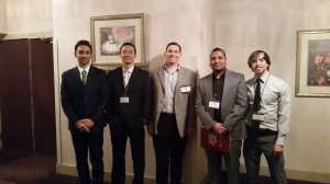 Our lab group from UMD. From left to right: Pietro Maisto, Wei Tang, Prof. Gollner, Ajay Singh and Colin Miller.